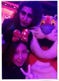 141105 Changmin as the Joker in SMTown Halloween Party (141104), J-Min's Twitter 001