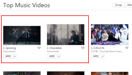141217 JP iTunes Top Music Videos Ranking Ranking for 141216 (23;59) No.2 WITH 000