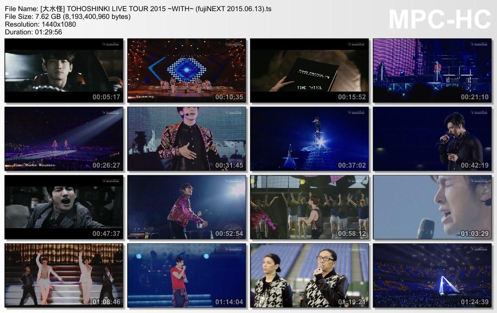 DL-Direct] 150613 Tohoshinki LIVE TOUR 2015 ~WITH~ Broadcast
